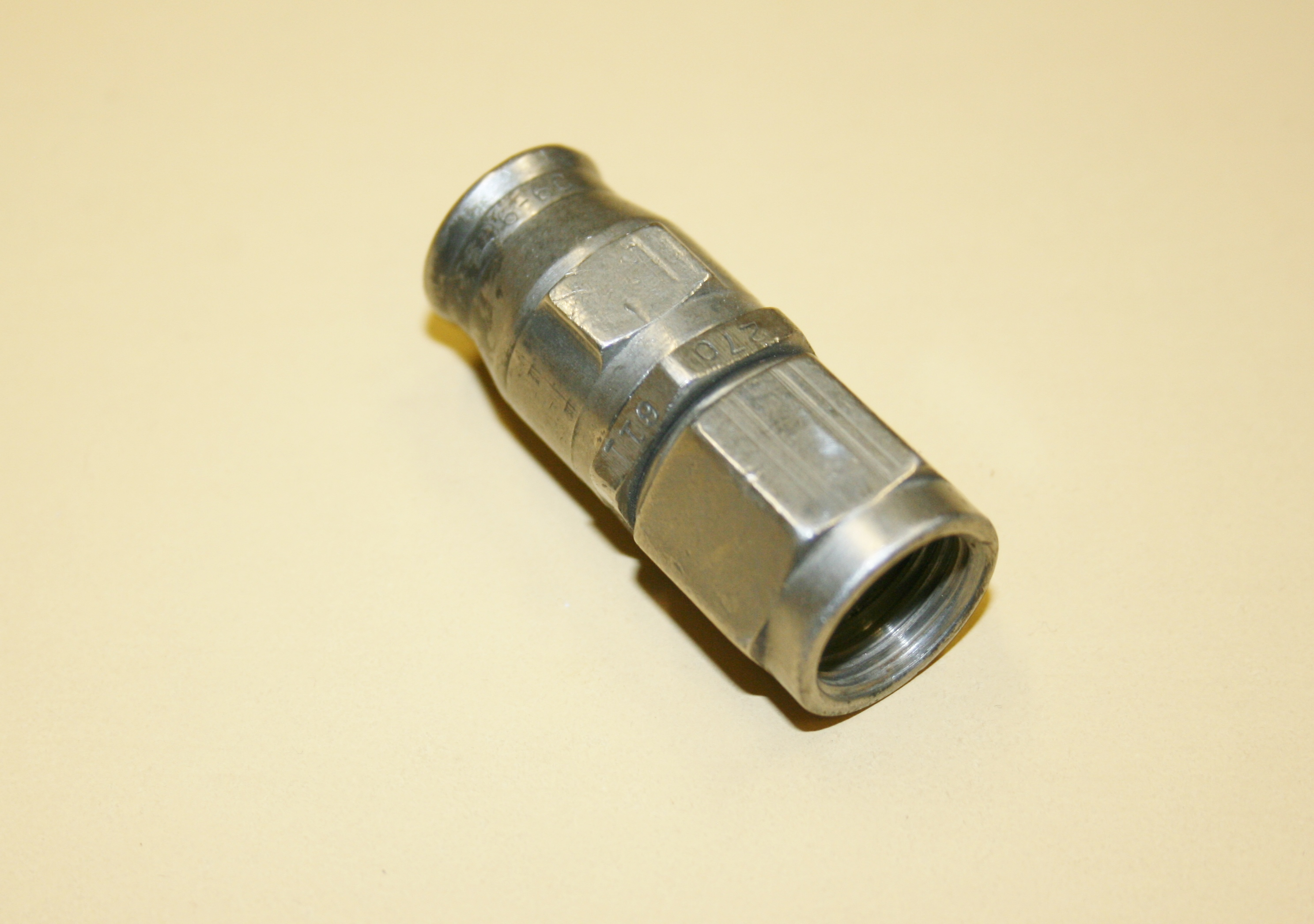 Used an hose end stainless steel aeroquip