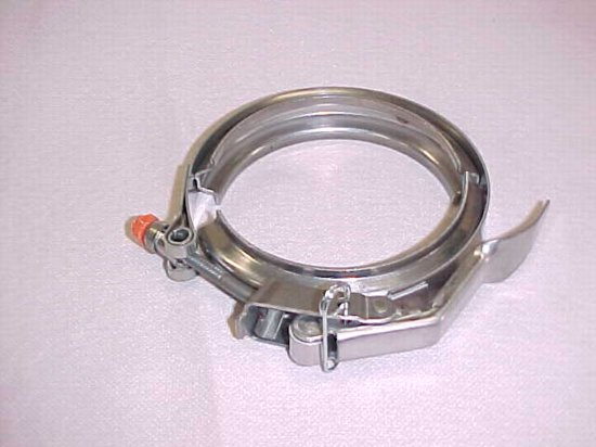 Fuel pump clamp quick release stainless steel
