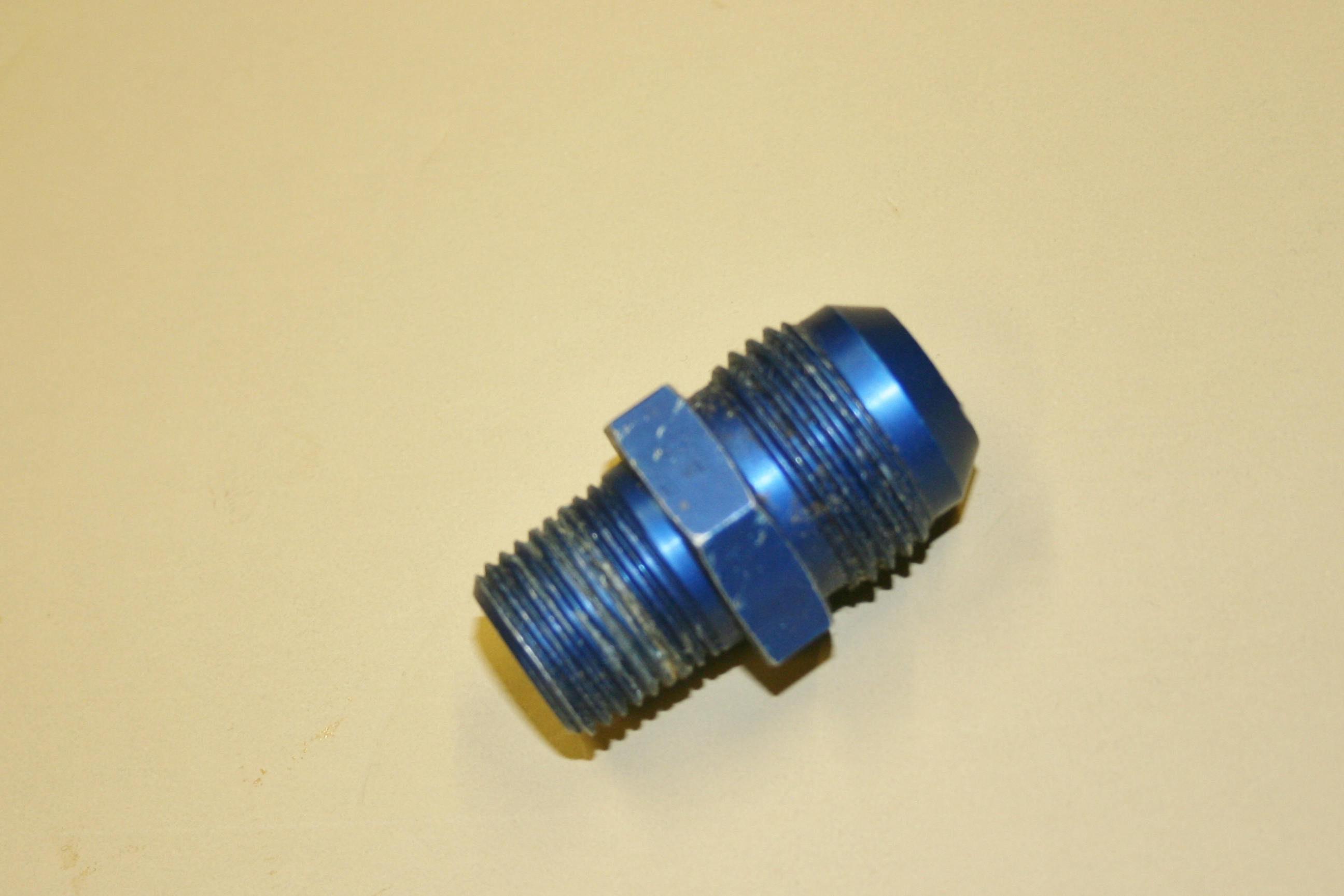 Used quot npt pipe to an alum fitting