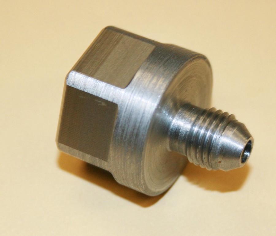 Dual regulator co air bottle adpt steel