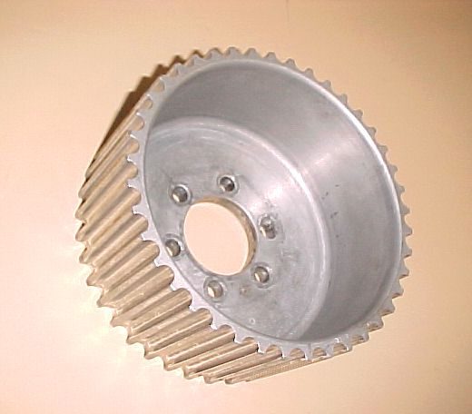 Aluminum Supercharger Pulley: Used 13.9-41 Blower Pulley Alum