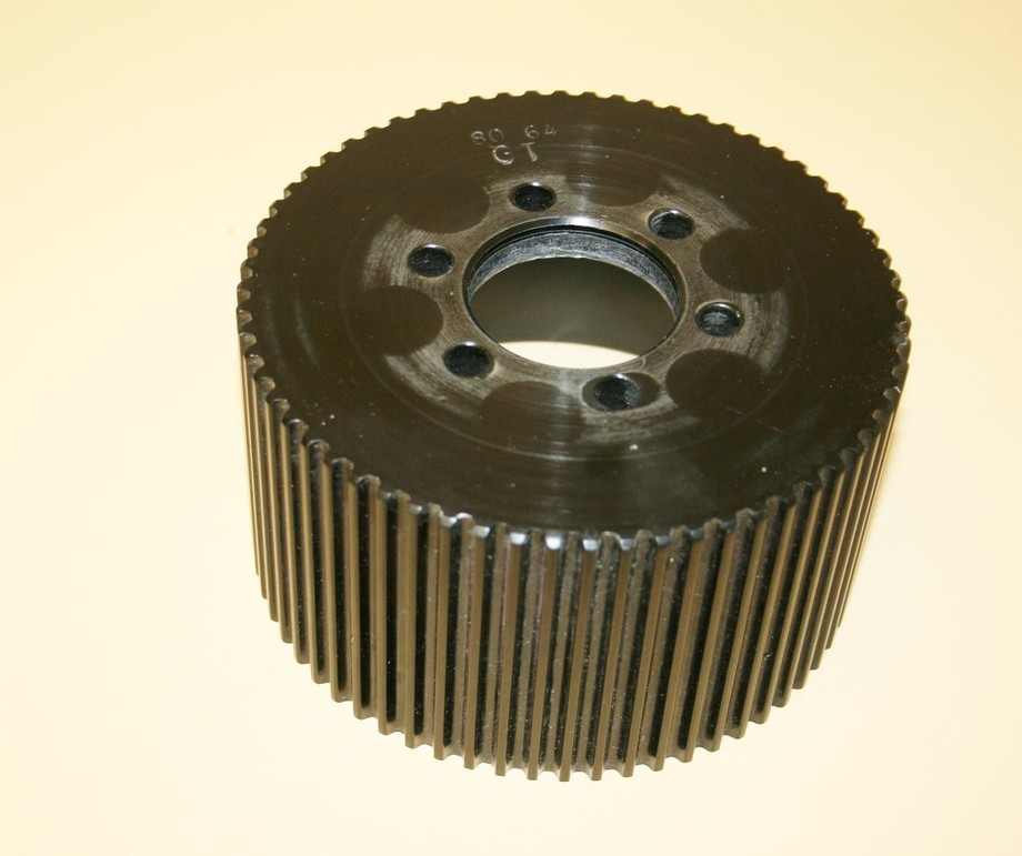 Aluminum Supercharger Pulley: Used 8mm 64 Tooth GT Blower Pulley Alum