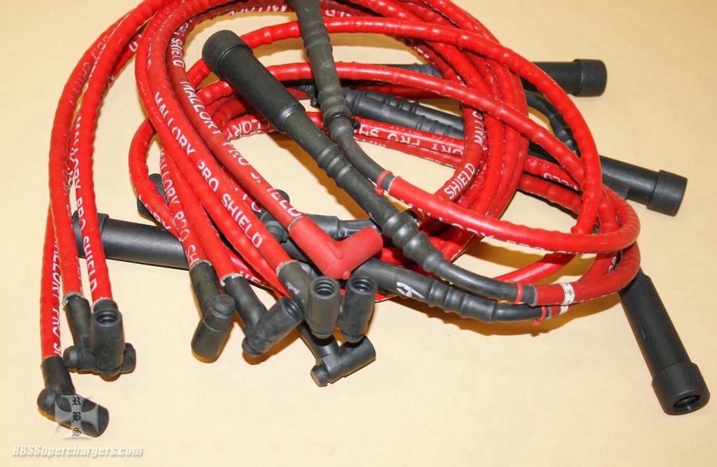 Used Mallory Hemi Solid Plug Wire Set on