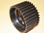 Used 14mm 34 tooth HTD alum. blower pulley center flange