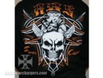 Short Sleeve Black Skull Shirt