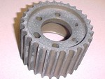 "Used 13.9-27 Tooth Offset Blower Pulley Mag six .375"" bolt holes"