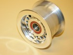 "Billet Alum. 3.00"" Large Dia. Idler Pulley Polished"