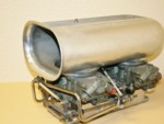 SOLD Used Holley 750cfm Double Pumpers/BDS Scoop/Weiand #7164 Carb. Adpt.