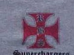 Short Sleeve Gray Iron Cross Shirt