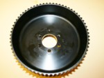 "Used 11mm 65 Tooth Center Flange Blower Pulley 3.50"" Wide"
