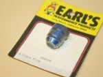SOLD Used -8 Aluminum AN Flare Plug Earl's #980608