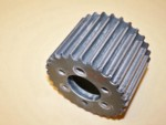 "Used 13.9-28 Tooth Blower Pulley Alum. 3.50"" wide"