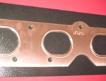 392 Hemi Embossed Copper Exhaust Gasket Set