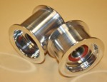 Billet Alum. Small Dia. Idler Pulley Polished (1510-0002)