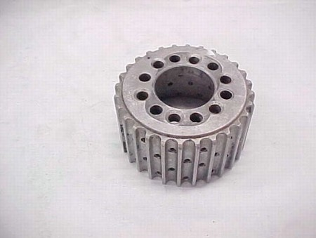 "Used 13.9-28 Tooth Blower Pulley Alum. 2.50"" wide (7001-0028)"