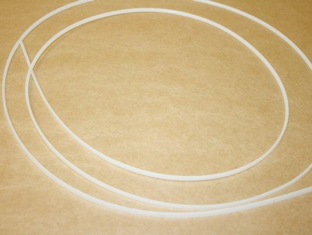 "1/4"" Half Round Virgin Clear Teflon Per Ft. (1300-0004K)"