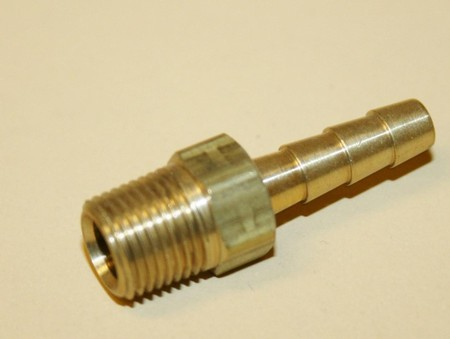 "3/16"" Barb To 1/8"" Pipe Fitting Brass (300-011B)"
