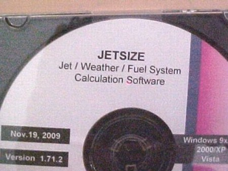 Accel. Ent. Jet/Weather/Fuel System Calculation Software (395-0002)