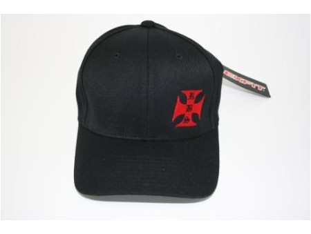 OUT OF STOCK RBS Side Iron Cross Black Hat (100-0026)