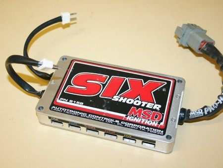 Used MSD 8158 Ignition Retard Box Six Shooter J (7010-0031I)