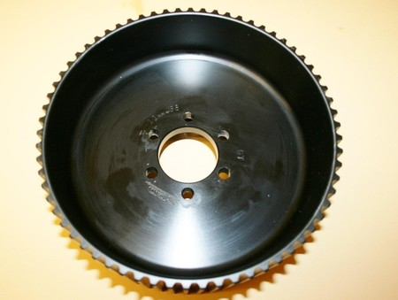 "Used 11mm 65 Tooth Center Flange Blower Pulley 3.50"" Wide (7001-1165C)"