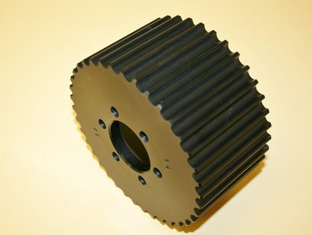 SOLD Used 14mm 38 Tooth HTD Blower Pulley Alum. (7001-1438B)